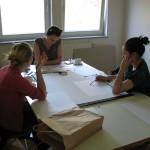 Zespół projektowy podczas pracy