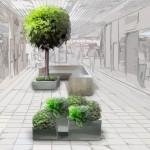 Aranżacja zielenią galerii handlowej