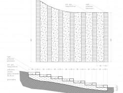Schemat techniczny schodów terenowych