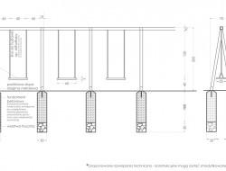 Schemat techniczny konstrukcji huśtawek