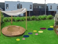 Miejsce zabaw w interaktywnej strefie rekreacyjnej