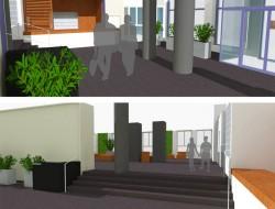 Wizualizacja strefy wejściowej hallu