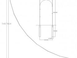 Schemat konstrukcji trejaża w części użytkowej ogrodu