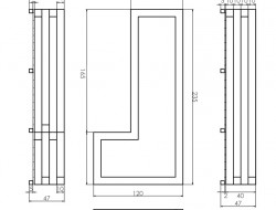 Schemat techniczny skrzyni drewnianej