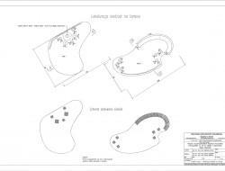 Schemat techniczny układu siedzisk na tarasach widokowych