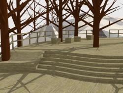 Wizualizacja wstępnej koncepcji projektowej tarasu