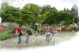 Projekt kompozycji roślinnych w Parku Miejskim w Tomaszowie Lubelskim