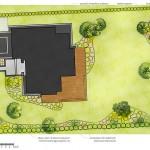Rzut koncepcji projektowej zagospodarowania ogrodu