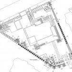 Schemat techniczny zagospodarowania terenu z doborem roślinnym
