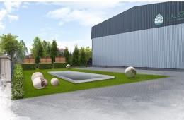Koncepcja zagospodarowania terenu przed budynkiem firmy Import-Export J.A.S.