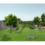 Wizualizacja strefy prywatnej ogrodu