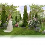 Wizualizacja ogrodu hotelowego