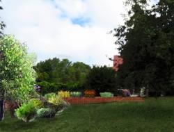 Wizualizacja ogrodu użytkowego - część północno-zachodnia