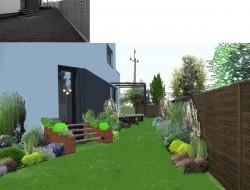 Strefa wypoczynkowa - kompozycje traw ozdobnych i bylin