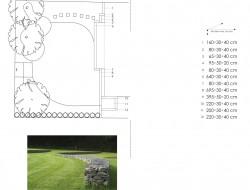 Schemat i wymiarowanie zaprojektowanych elementów gabionowych