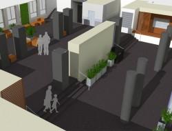 Wizualizacja koncepcji projektowej hallu