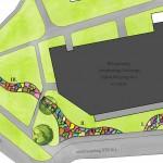 Rzut koncepcji projektowej zagospodarowania terenu