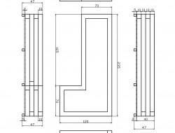 Schemat techniczny skrzyni na ogródek ziołowy