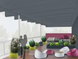 Wizualizacja tarasu w stylu nowoczesnym - przestrzeń energetyzująca
