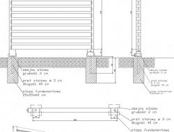 Schemat techniczny konstrukcji parawanu ogrodowego