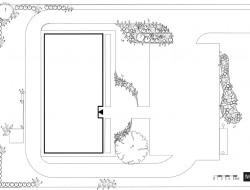 Rzut szczegółowy projektu zagospodarowania terenu ze schematem nasadzeń